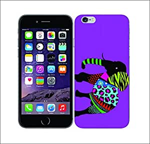 Galaxy Printed 2484 Neon Animal Silhouettes Elephant Hard Cover for Apple Iphone 5