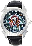 Ed Hardy Men's RE-FS Revolution Flaming Skull Stainless Steel 316L Watch