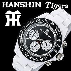 阪神 タイガース (HANSHIN TIGERS )球団承認 腕時計 白 黒文字盤