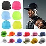 Yesurprise New Men Boy Punk Rock Classic Snapback Snap Back Baseball Blank Plain Fitted Hat Cap Fit #16