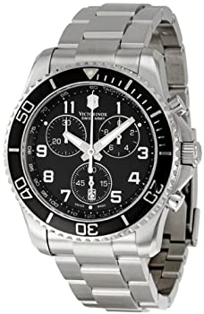 Victorinox Swiss Army Men's 241432 Maverick GS Black Chronograph Dial Watch by Victorinox Swiss Army