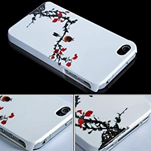 Chinese Fashion Hard Back Case Cover for Apple iPhone 4 4G 4S Plum flower