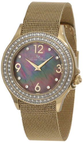 Lucien Piccard Women's 11674-YG-11MOP Balmhorn Black Mother-Of-Pearl Dial Watch