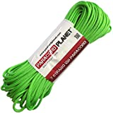 Paracord Planet® USA Made 550 Type III Paracord, 100 Feet - Now Selling Over 200 Parachute Cord Colors! (Neon Green)
