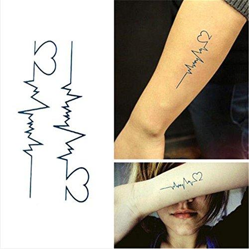 1-bogen-temporare-tatowierungen-decal-tattoos-body-auf-motiv-von-herzkurve-und-herzen-fake-tattoos-f