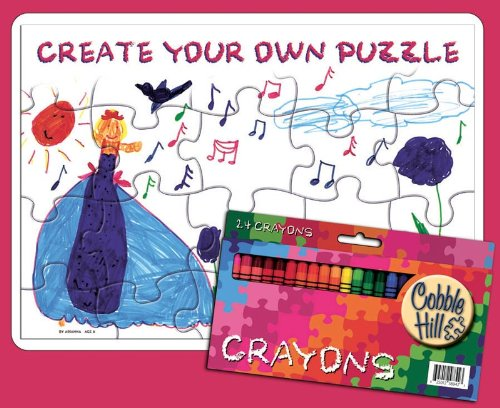 Cobble Hill Create Your Own Puzzle with 2 Trays and 24 Crayons - 1