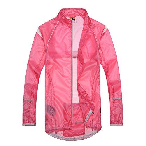 Santic New Design Women'S Super Light Wind Rain Coat Bicycle Waterproof Jacket Full-Zipper Size Xl