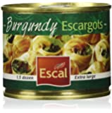 Escal French Burgundy Escargot Snails 1.5 Dozen