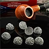 HuaYang New 10Pcs Silver Tobacco Smoking Pipe Metal Screen Percolator Leach Net Filter 15mm