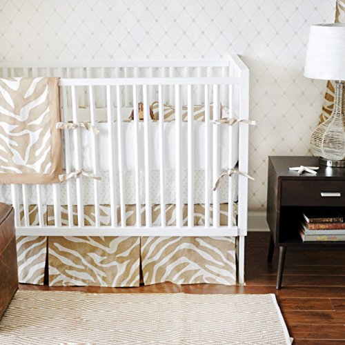 New Arrivals 4 Piece Crib Bed Set, Safari in Sand
