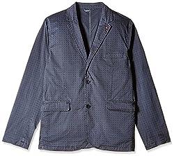 Celio Men's Regular Fit Blazer (3596654359665_IDUPRINTMARINE_48_Marine)