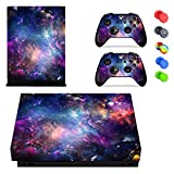 Feicuan Skin Sticker Wrap Set for Xbox One X (X1X) Console and Controllers Skin Vinyl Sticker Decal , with 10pcs Silicone Thumb Grips
