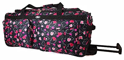 "Womens Girls Quality Chervi Hand Luggage Wheeled Holdall 20"" 26"" 30"" Travel Bag Suitcase New"