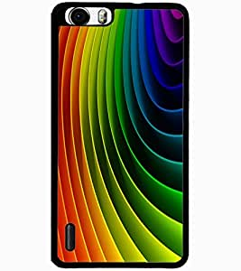 ColourCraft Colourful Pattern Design Back Case Cover for HUAWEI HONOR 6 PLUS