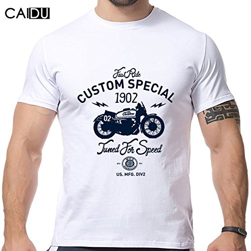 2016 New Design Motorcycle Printing T Shirts Short Sleeve O Neck Strong Men Shirts Brand New Fashion