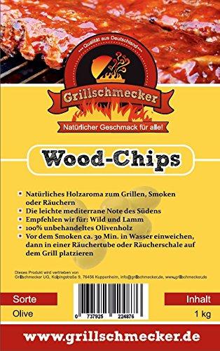 Räucher Chips von Grillschmecker 1kg Olive