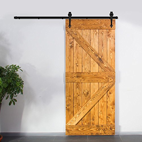 Price Tracking For Ccjh Rustic Black Sliding Barn Wood Closet Door