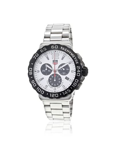 TAG Heuer Men's CAU1111.BA0858 White Formula 1 Chronograph Watch As You See