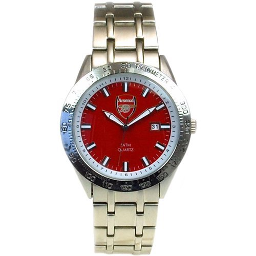 Arsenal FC Limited Edition Stainless Steel Strap Red Dial Gents Watch GA1613
