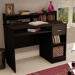 South Shore Small Desk - Great Writing Desk for Your Child - The Computer Desk Is Great for Your Kid\'s Bedroom or Any Small Area - Place a Laptop in This Study Table - 5 Years Warranty! (Chocolate)