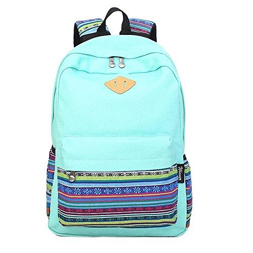 artone-lona-tribal-rayas-viajar-mochila-campus-mochila-con-interior-bolsillos-teal