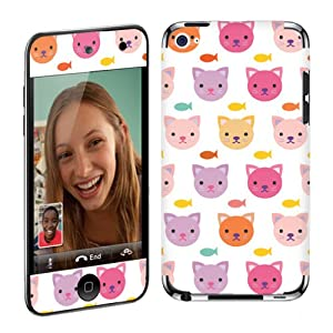 Apple iPod Touch 4G (4th Generation) Vinyl Decal Protection Skin Kitty Cat