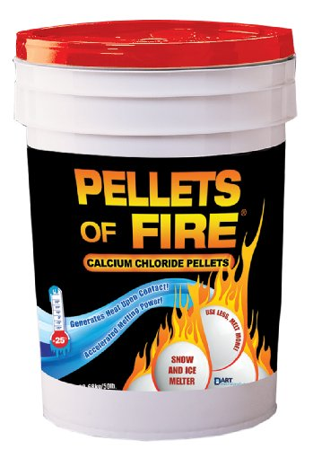 Review Pellets of Fire CPP50 Snow & Ice Melter Calcium Chloride Pellets 50-Pound Bucket