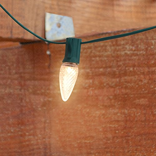 Long String Lights Indoor : SLZ Outdoor String Lights 25ft Long with 20 E12 Dropped Sockets - Included 25 C7 LED bulbs ...