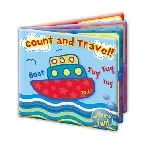 """Fist Steps - Libro galleggiante per il bagnetto """"Contare e Viaggiare"""", gioco educativo e divertente"""
