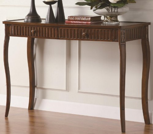 Cheap Console Table Sofa Table with Drawers in Brown Finish (VF_900964)