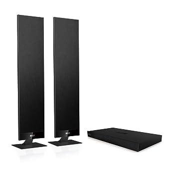 KEF V300 Enceinte extra-plate numérique pour TV Noir