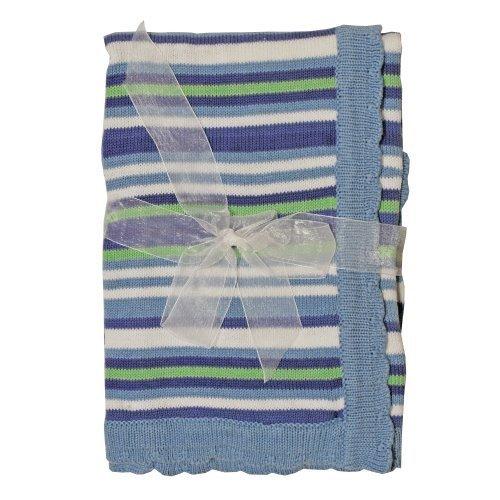 Little Beginnings Boys Knit Striped Blanket - 1