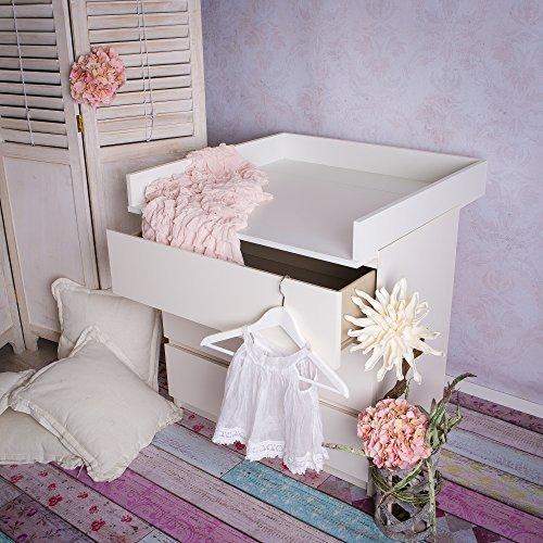 Fasciatoio adatto a tutte le cassettiere IKEA Malm (bianco)