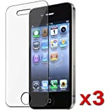 3 Packs Clear Iphone 4 4G Premium Screen Protector