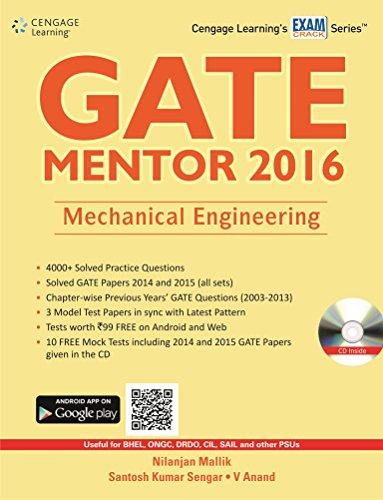 GATE Mentor 2016: Mechanical Engineering