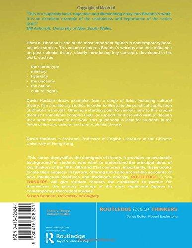 Homi K. Bhabha (Routledge Critical Thinkers)