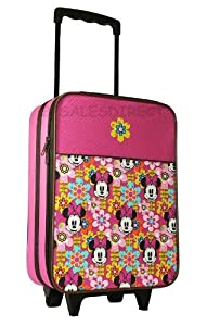 Disney Minnie Mouse Mickey Girls Wheeled Bag Trolley Case Hand Luggage Pink -  from Stuffs Direct