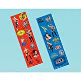 WWE Wrestling Stickers (8 sheets) (Color: Multi-colored, Tamaño: One Size)