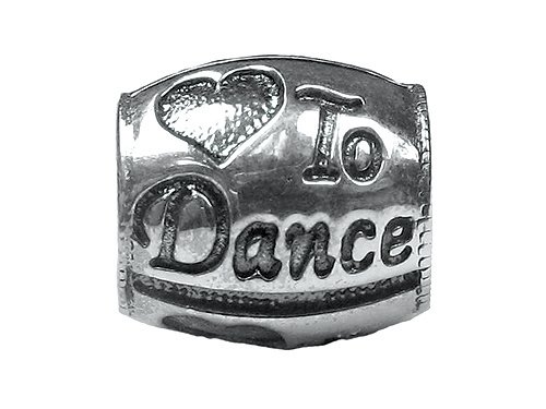 Zable(tm) Sterling Silver I Heart To Dance Bead / Charm