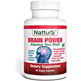 BRAIN POWER - Memory, Energy and Brain Function Support (with Phosphatidylserine, Vinpocetine, Acetyl L-Carnitine, Alpha Lipoic Acid, Resveratrol, Green Tea Extract) 60 Capsules