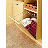 "Rev-A-Shelf CTOHB-161319-52 CTOHB Series 16"" Wide Closet Tilt Out Hamper Basket, Chrome"