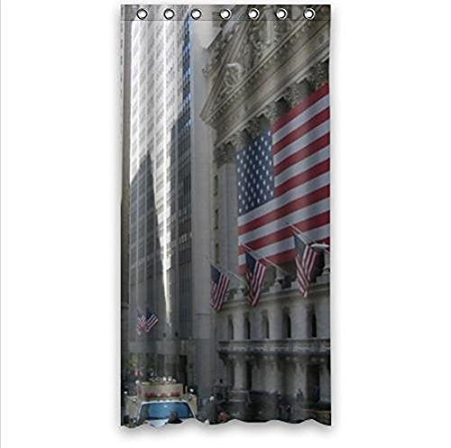 Home&Family Best Custom Wall Street Manhattan New York Design Wall Street Polyester Waterproof Shower Curtain 36 x 72 Inch