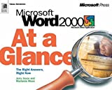img - for Microsoft Word 2000 at a Glance (At a Glance (Microsoft)) book / textbook / text book