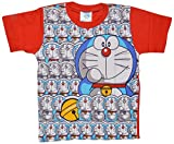 Eteenz Boys' Cotton T-Shirt (1_7-8 years, Red, 7-8 years)