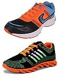 #9: Chevit Men's COMBO Stylish Running Shoes (Joggers + Sports Shoes)