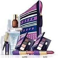 Estee Lauder Macy's 7 Pcs Skin Care Makeup Gift Set Advanced Night Repair Mascara Lipstick Cosmetic Bag
