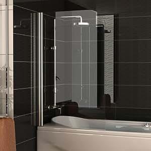Divisorio per vasca da bagno in vetro separatore circa 75 - Porta doccia pieghevole ...