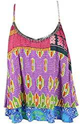 Plenty by Tracy Reese Womens Sequin Bead Cami Top