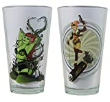 DC Comics Bombshells 16-oz. Pint Glass Set (Poison Ivy & Harley Quinn)