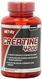 MET-Rx Creatine 4200 Diet Supplement Capsules, 120 Count